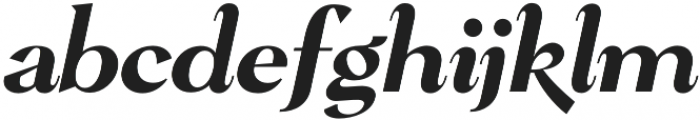 Pervinca Family Medium Italic otf (500) Font LOWERCASE