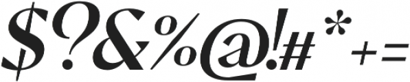 Pervinca Family News Italic otf (400) Font OTHER CHARS