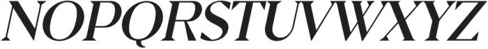 Pervinca Family News Italic otf (400) Font UPPERCASE