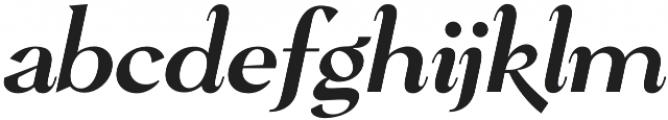 Pervinca Family News Italic otf (400) Font LOWERCASE