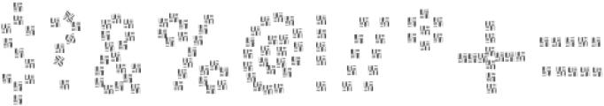PestoFresco Strips otf (400) Font OTHER CHARS