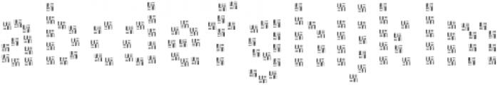 PestoFresco Strips otf (400) Font LOWERCASE