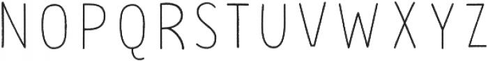 PestoFresco Thin Rough otf (100) Font UPPERCASE