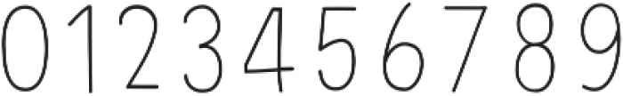 PestoFresco Thin otf (100) Font OTHER CHARS
