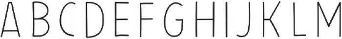 PestoFresco Thin otf (100) Font UPPERCASE