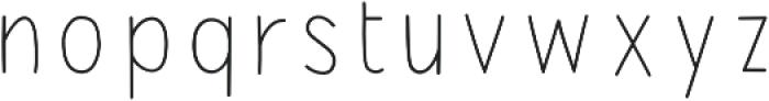 PestoFresco Thin otf (100) Font LOWERCASE