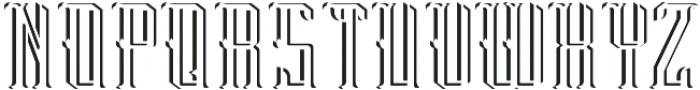 Peterborough LightAndShadowFX otf (300) Font LOWERCASE