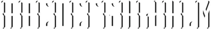 Peterborough ShadowFX otf (400) Font UPPERCASE
