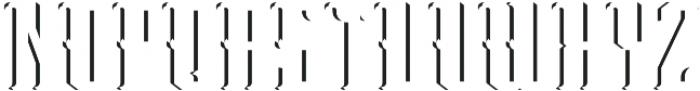 Peterborough ShadowFX otf (400) Font LOWERCASE
