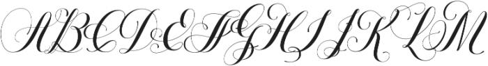 Petunia Monogram Regular otf (400) Font UPPERCASE