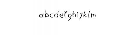 Penfont - freehand font Font LOWERCASE