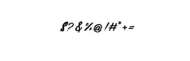 PestaDanza-Regular.ttf Font OTHER CHARS