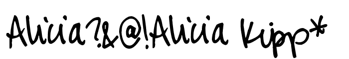 Pea Alicia Script Font OTHER CHARS