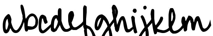 Pea Alicia Script Font LOWERCASE