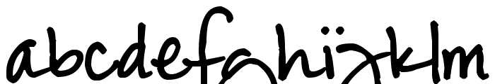 Pea Anderson Font LOWERCASE