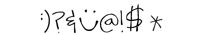 Pea Ash Font OTHER CHARS