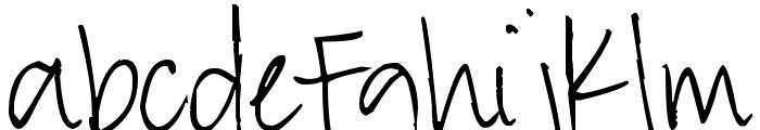 Pea Ashlee Font LOWERCASE