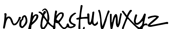 Pea Ashley Rose Font LOWERCASE