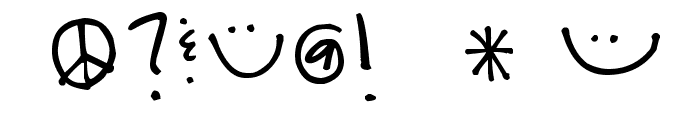 Pea Bandit Font OTHER CHARS