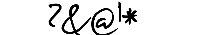 Pea Bhea Script Font OTHER CHARS
