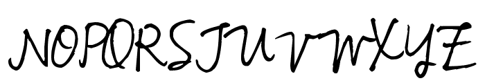 Pea Bhea Script Font UPPERCASE