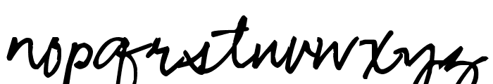 Pea Bhea Script Font LOWERCASE