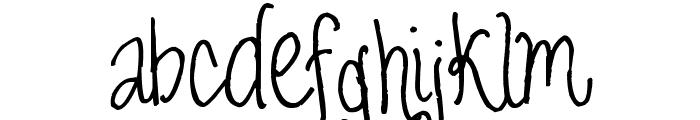 Pea Biggio Font LOWERCASE