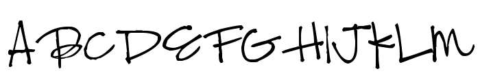 Pea Bonnie Script Font UPPERCASE
