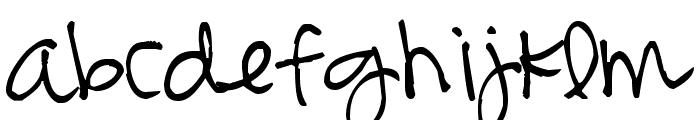 Pea Bonnie Script Font LOWERCASE