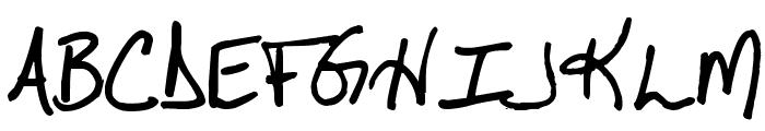 Pea Cara in TX Font UPPERCASE