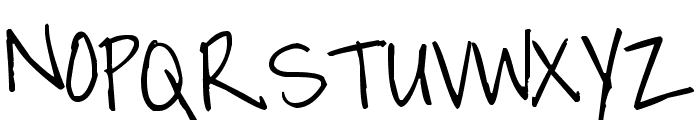 Pea Cathi Font UPPERCASE
