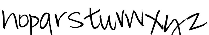 Pea Cathi Font LOWERCASE