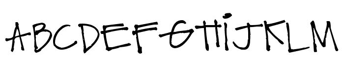 Pea Caytee Font UPPERCASE