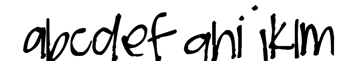 Pea Chit's Bits Font LOWERCASE