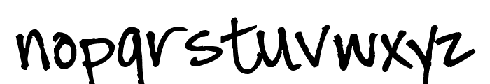 Pea Chrissi Font LOWERCASE