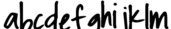 Pea Christy Font LOWERCASE