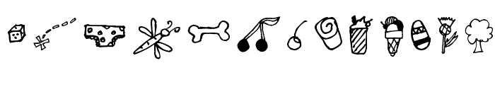 Pea Cookie's Doodles Font LOWERCASE