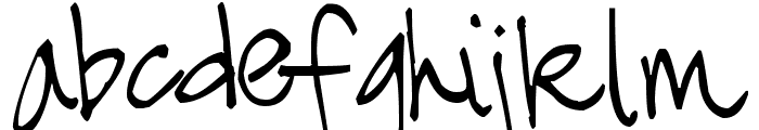 Pea Crisby Funky Font LOWERCASE
