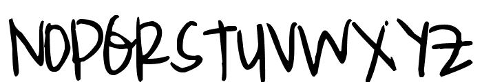 Pea Croxford Font UPPERCASE