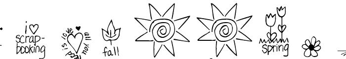 Pea Dalovely Damanda Doodles Font OTHER CHARS