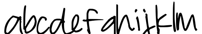 Pea Eshley Font LOWERCASE