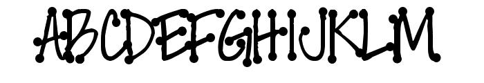 Pea Faith Dots Font UPPERCASE