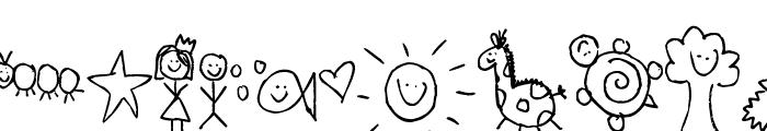 Pea Fruit Salad Doodles Font UPPERCASE