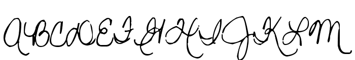 Pea Gretchie Font UPPERCASE