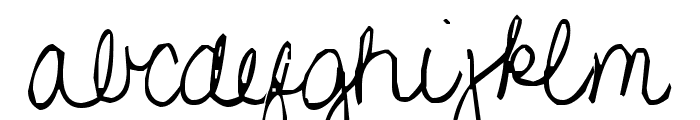 Pea Gretchie Font LOWERCASE