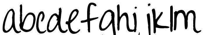 Pea Happy Girl Font LOWERCASE