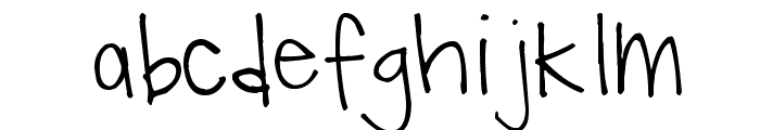 Pea Hollee Font LOWERCASE