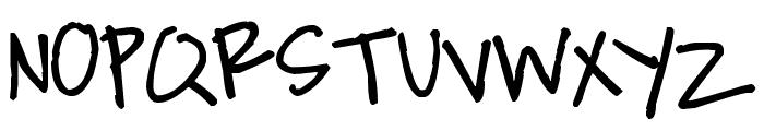 Pea Jacks and Matty Font UPPERCASE