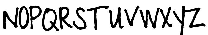 Pea Jazz Skinny Font UPPERCASE