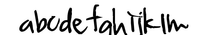 Pea Jia Font LOWERCASE